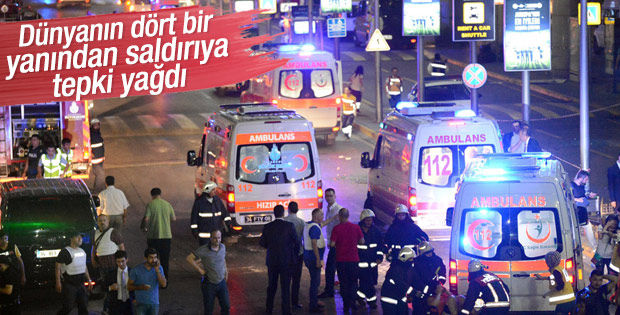 Atatürk Havalimanı'ndaki terör saldırısına dünyadan tepki