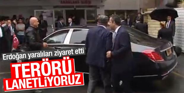 Erdoğan Haseki Hastanesi'ne gitti