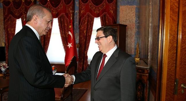 Cumhurbaşkanı Erdoğan, Küba Dışişleri Bakanı Parrilla ile görüştü
