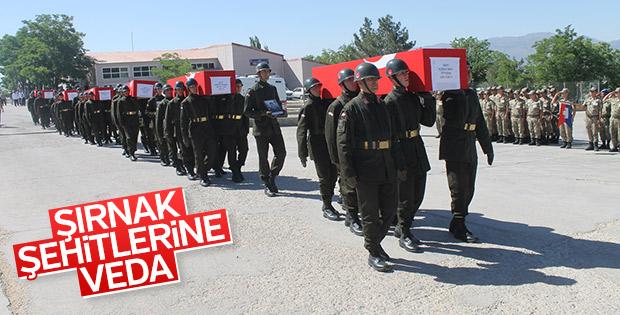 Şırnak Şehitleri için askeri tören