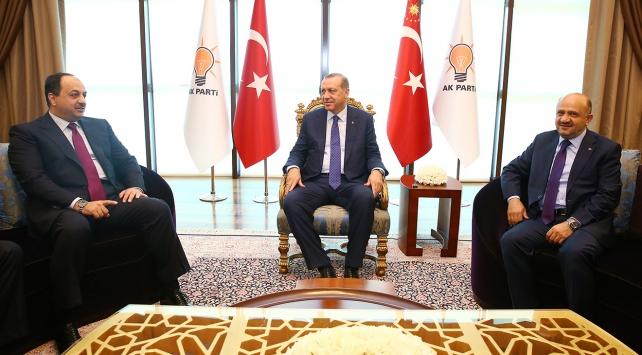 Cumhurbaşkanı Erdoğan, Katarlı bakanı kabul etti