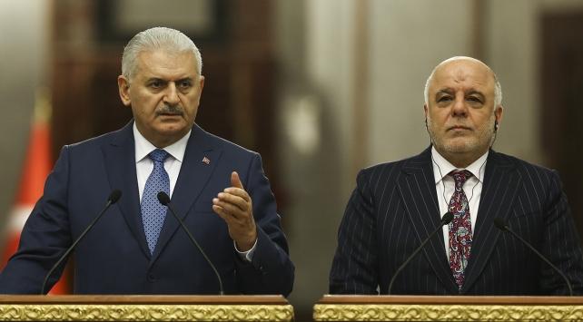 Başbakan Yıldırım, İbadi ile gayrimeşru referandumu görüştü