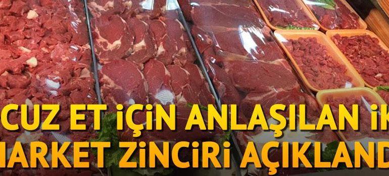 Ucuz et için anlaşılan iki market zinciri açıklandı