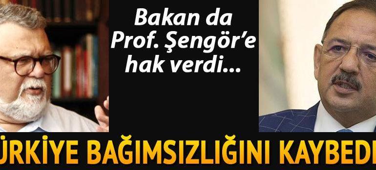 Bakan, Prof. Şengör'e hak verdi: 'Katılıyorum, bağımsızlığımız gider'