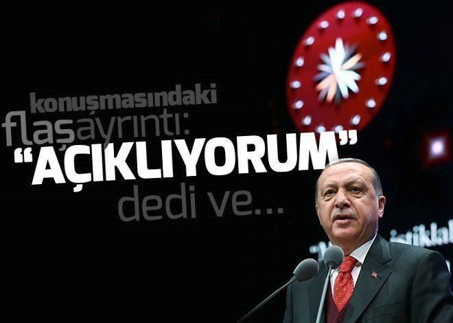 Cumhurbaşkanı Erdoğan'dan Afrin çıkışı: Açıklıyorum….