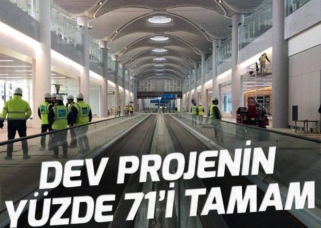 3. havalimanının yüzde 71'i tamamlandı.
