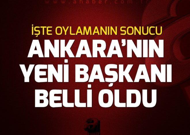 Ankara Büyükşehir Belediye Başkanlığına Mustafa Tuna seçildi