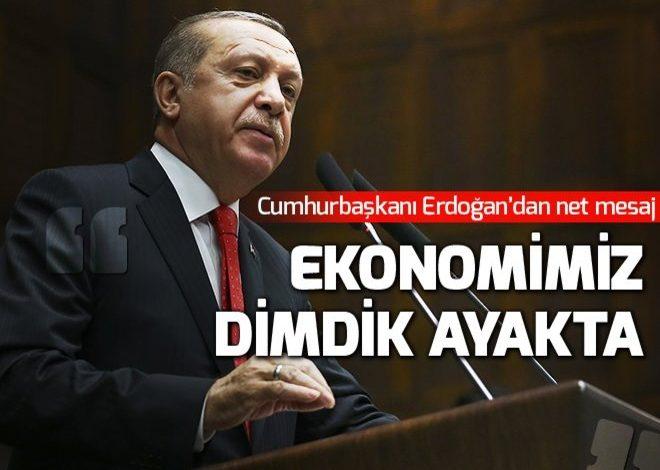 Cumhurbaşkanı Erdoğan: Ekonomimiz dimdik ayakta.