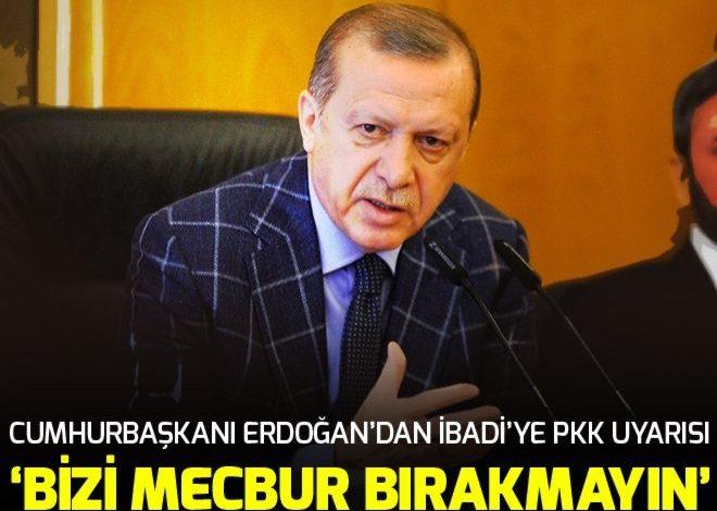 Cumhurbaşkanı Erdoğan'dan İbadi'ye PKK uyarısı.