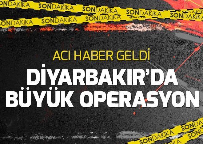 Diyarbakır'da büyük terör operasyonu.