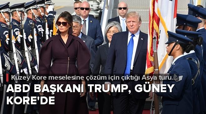 Trump, Asya turunun ikinci durağı olan Güney Kore'de