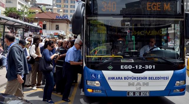 Ankara'da 2018 yılında ulaşım ücretlerine zam yok
