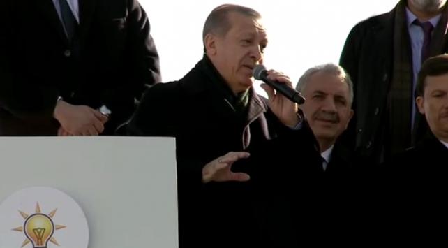 Cumhurbaşkanı Erdoğan, Kars'ta halka hitap etti