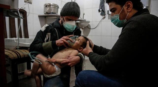 Esed rejimi Doğu Guta'da zehirli gaz içerikli bomba kullandı