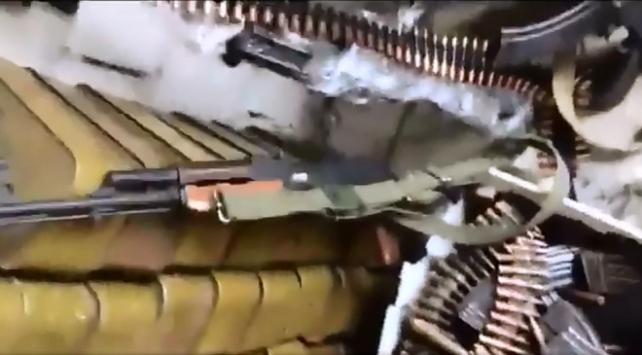 Afrin'de YPG/PKK'nın mühimmat deposu ortaya çıkarıldı